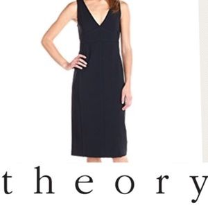 Theory black knit dress S EUC